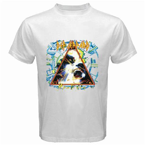 Hysteria T Shirt Mens new def leppard quot hysteria quot rock band mens white t shirt
