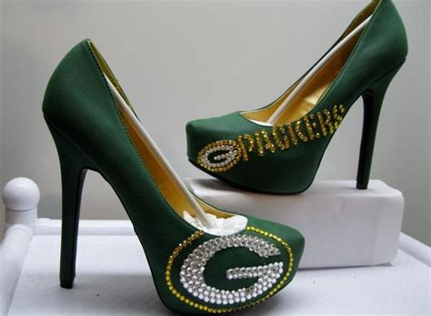 green bay packers high heel shoes packer shoes i need these shoes green bay packers