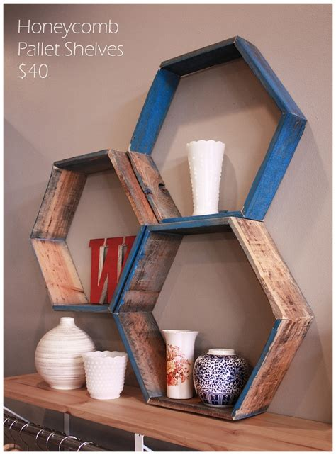 honeycomb pallet shelves diy pallets repurposed pinterest