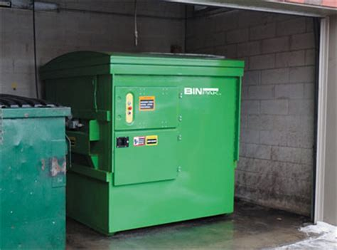 how does a commercial trash compactor work binpak compactor