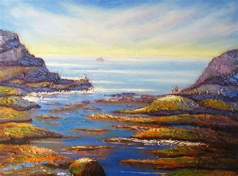 rock pools at north beach wollongong painting by diane quee
