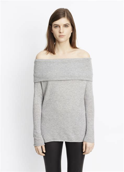 Jaket Pria Trendy Adidas Line Shoulder Gray vince the shoulder relaxed pullover sweater