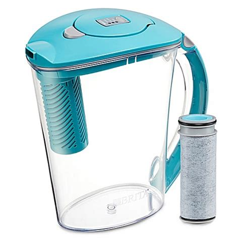 brita bed bath and beyond buy brita 174 10 cup stream pitcher in lake blue from bed bath beyond