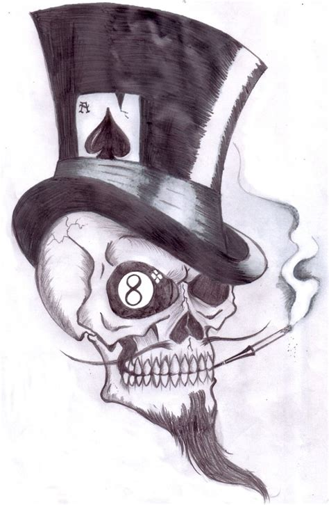 gambling skull by shadow3217 on deviantart