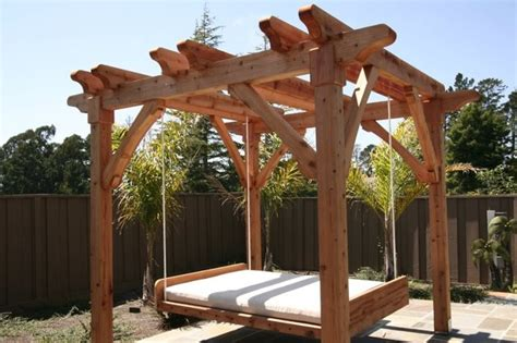 pergola porch swing pergola and swing bed