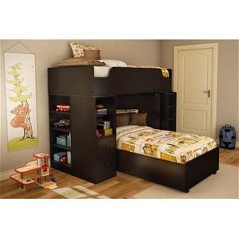 loft bed kit south shore logik collection twin 39 inch loft bed kit chocolate home furniture
