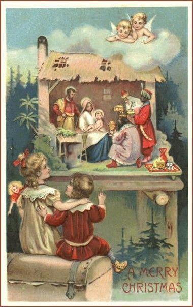 kerstkaart noel vintage cartes de noel vintage  image noel