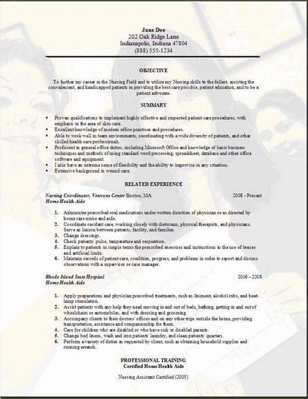 Home Health Aide Resume Educational Aide Resume