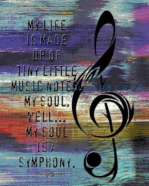 In Chaos The Eloquence In by Tiny Notes Symphony Musical Quote Wall Decor Product