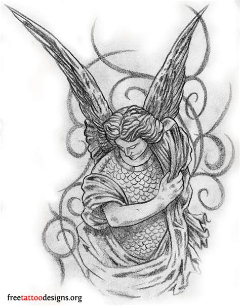 male angel tattoo designs tattoos wings guardian and st michael