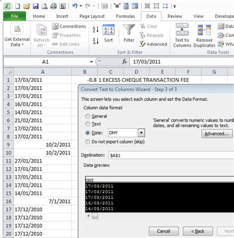format date dmy php excel convert dates from mdy to dmy 171 projectwoman com