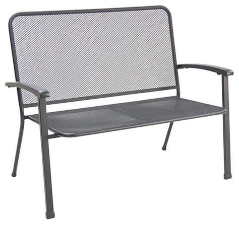 steel outdoor bench innsbruck steel mesh loveseat bench black set of 4