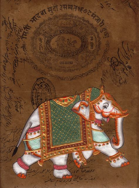 Handmade Indian - handmade indian elephant painting vintage st paper
