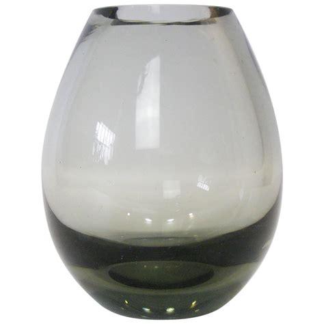 Glass Teardrop Vase by Per Lutken For Holmegaard Low Profile Teardrop Smoked