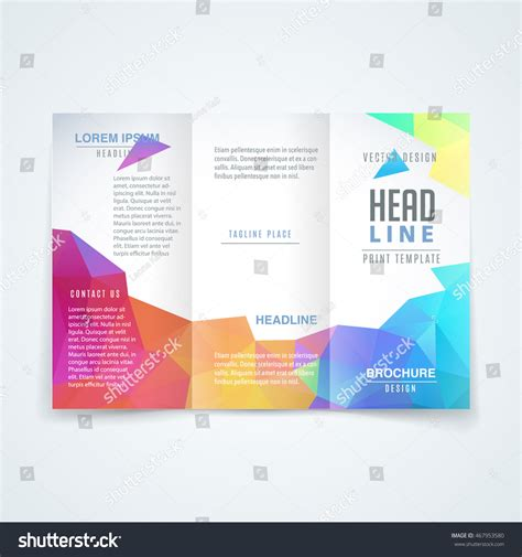 best layout design brochure vector modern trifold brochure design template stock