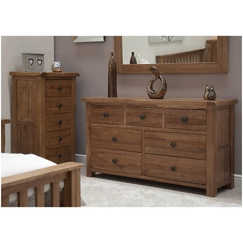 large bedroom furniture tilson solid rustic oak bedroom furniture large wide chest