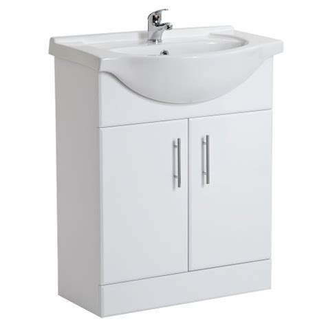 Bathroom Cloakroom Vanity Storage Furniture Units Gloss White Venice Bcve Trueshopping White Gloss Bathroom Vanity Unit Basin Sink 650mm Cloakroom Storage Cabinet Ceramic