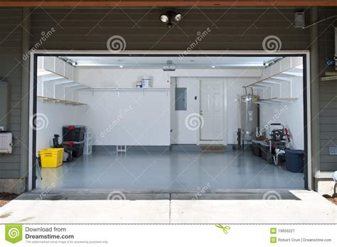 Garage Doors Designs clean garage stock image image of construction white