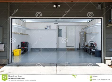 Clean garage stock image. Image of construction, white