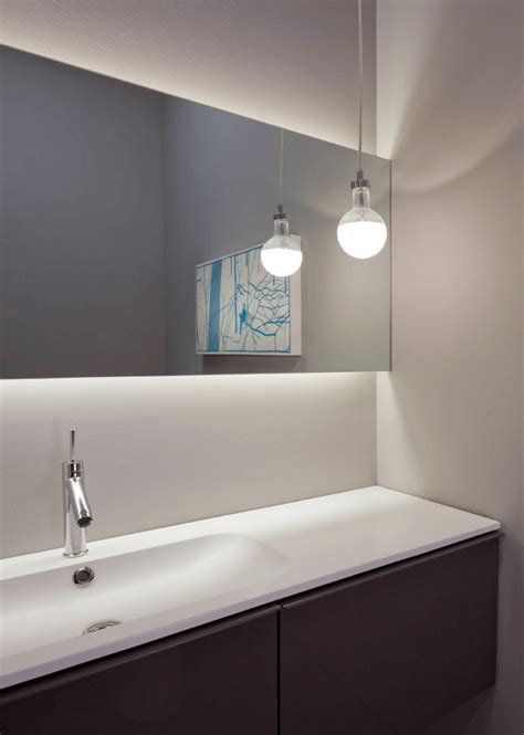 contemporary mirrors for bathroom backlit mirror bathroom pinterest backlit mirror bathroom mirrors and modern