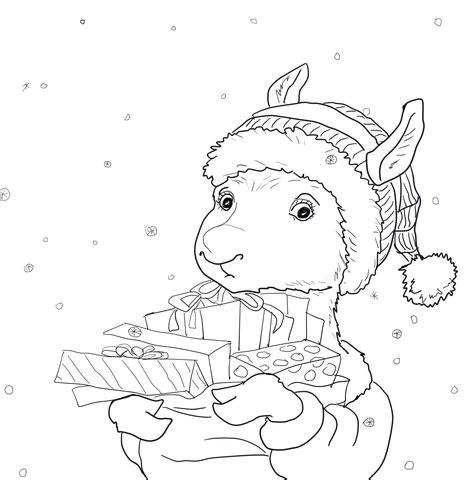 llama llama holiday drama coloring page free printable