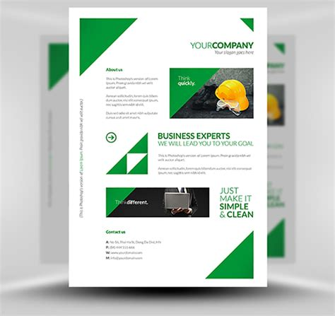 Free Clean Corporate A4 Flyer Poster Template Flyerheroes Poster Template Free