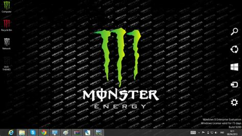 download theme windows 7 monster energy monster energy theme for windows 7 and 8 ouo themes
