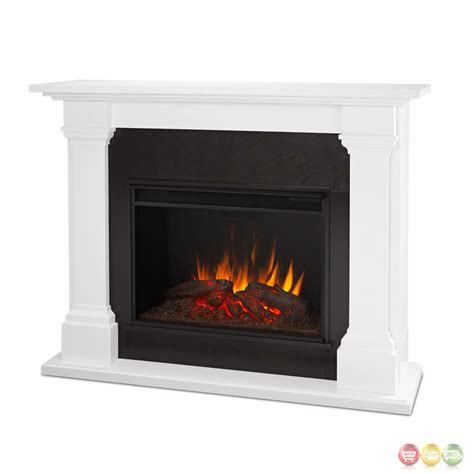 Electric Fireplace In White by Callaway Grand Led Electric Fireplace In White
