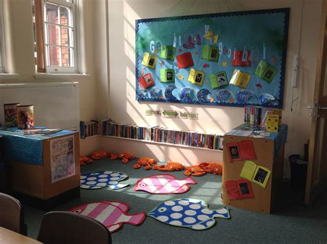 themes for reading corners under the sea reading corner get hooked by a good book