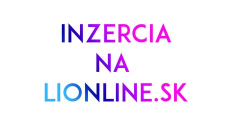 inzercia na lionlinesk live magaz237n