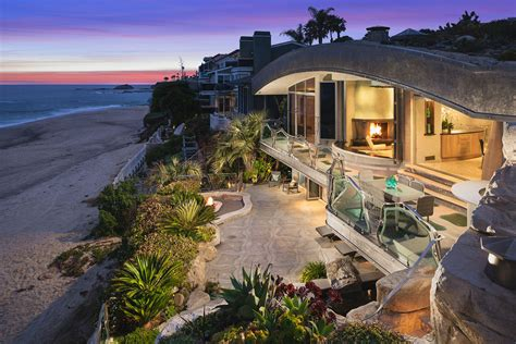 Beachfront House Plans Whimsical Rock House In Laguna Beach Idesignarch
