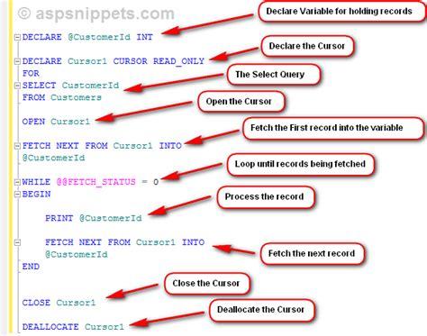 sql server stored procedure template using cursor in sql server stored procedure with exle