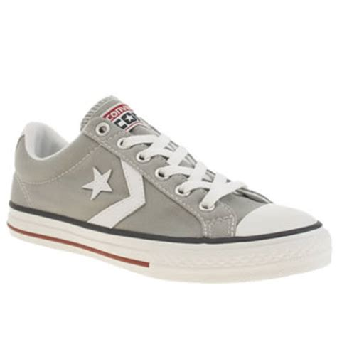 light grey converse player youth trainers schuh