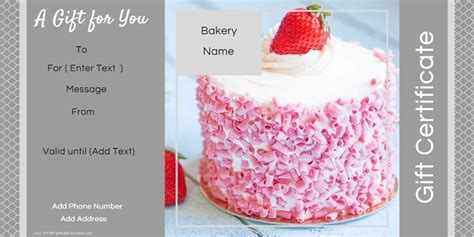 Can You Leave A Tip On A Gift Card - gift certificate templates for a bakery