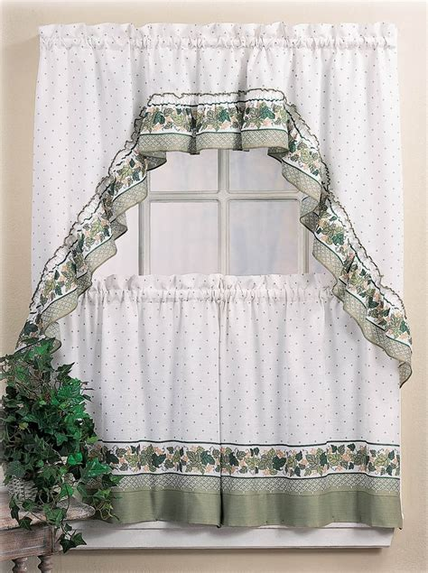 Country Cottage Curtains by Cottage Window Curtains Country Kitchen Decor Swag 36