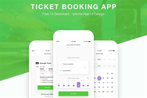free ticket booking app xd templates creativetacos