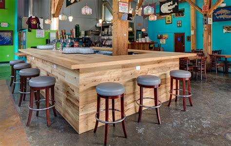 how to build a commercial bar top custom bar for hair of the dog in portland or hammer hand