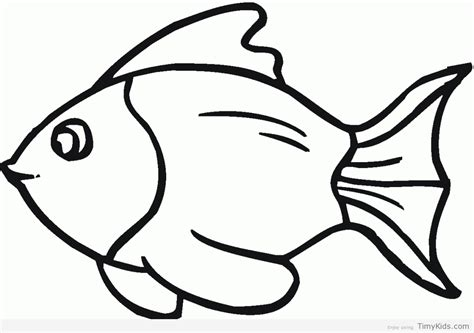 30 Fish Outline Coloring Pages For Kids Timykids Outline Pictures