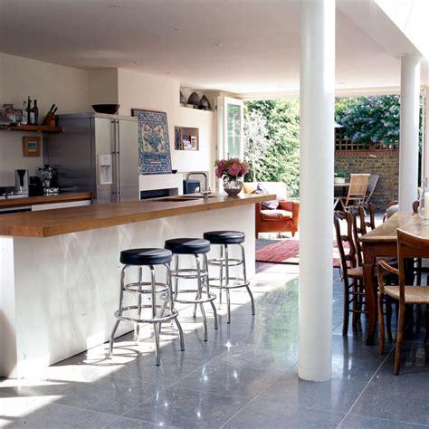 open dining room  adjoining kitchen interior design