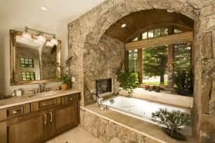 rustic tile bathroom wildflower baths