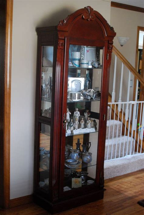 Ideas Design For Lighted Curio Cabinet Curio Cabinet Home Sweet Home Decorating Ideas For My Futur