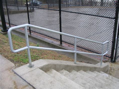 Galvanized Handrail by Allegheny Fence Railings