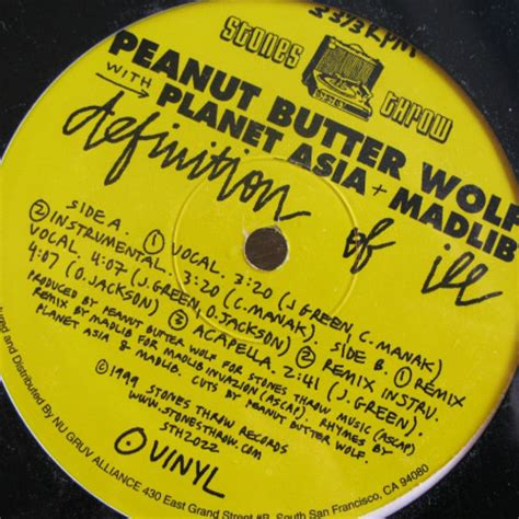 Definition Of Records Peanut Butter Wolf Definition Of Ill Stones Throw Records