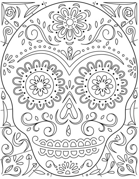 hallmark coloring pages halloween day of the dead sugar skull coloring page hallmark ideas