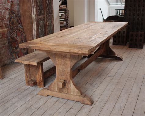 wood bench dining table rustic wooden dining table wooden furniture pinterest
