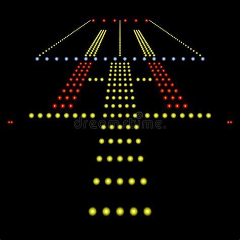 runway lights at runway lights stock illustration illustration of lights