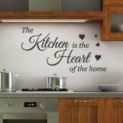 Kitchen Wall Stickers Kitchen Is The Heart Wall Quotes Stickers Wall Decals Wall