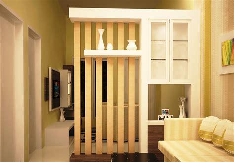 partisi antara ruang tamu  ruang keluarga  desain
