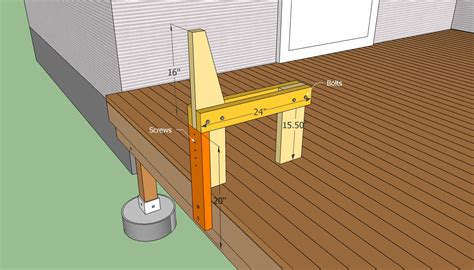 bench on deck deck bench plans free howtospecialist how to build step by step diy plans