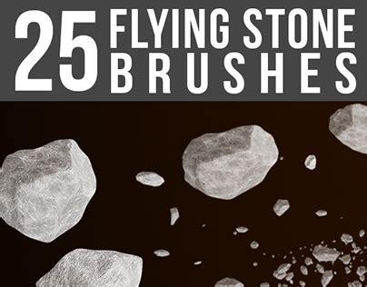 25 flying stone brushes file format photoshop and pdf 25 flying stone brushes on behance